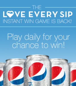 Diet Pepsi The Love Every Sip Instant Sweepstakes